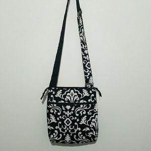 Vera Bradley Bags - Vera Bradley Crossbody Purse Black White Floral